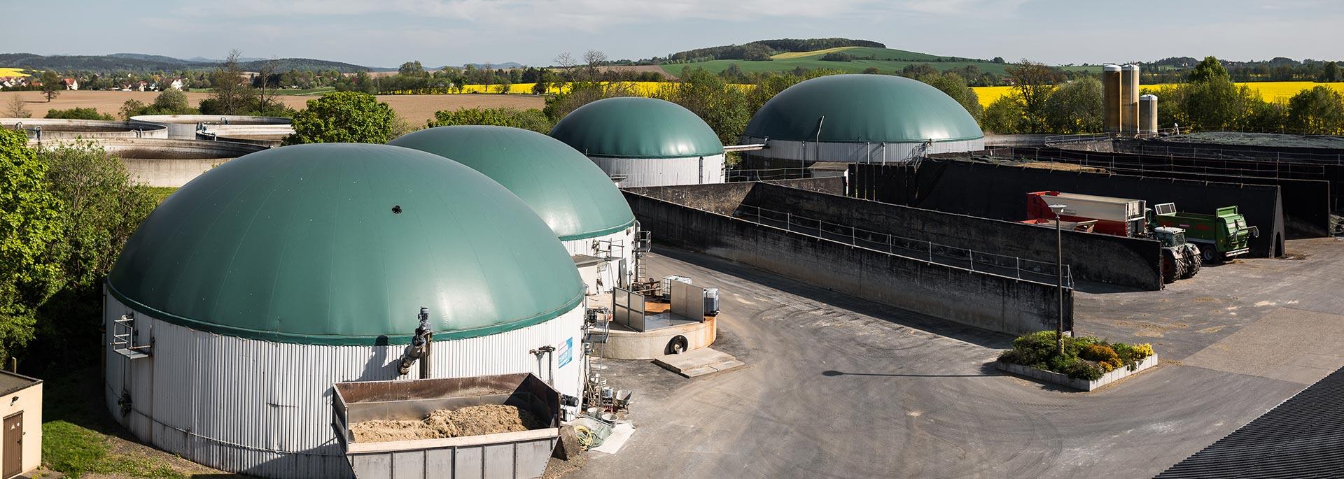 Sliderbild-Biogasanlage